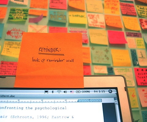 reminder and post-it image
