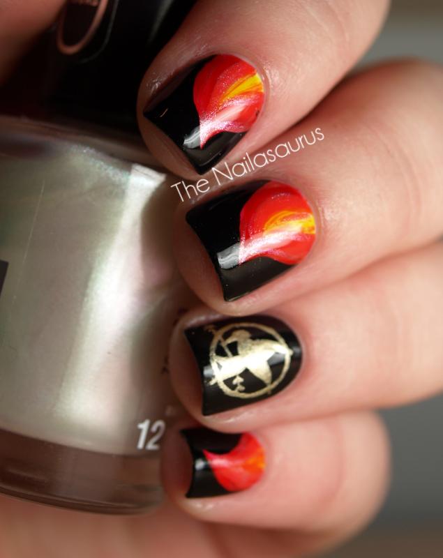 nail art, nails, and hunger games image