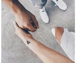 tattoo, couple, and fashion image