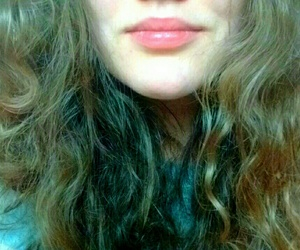 beautiful, curles, and lipstick image