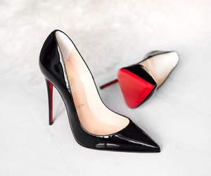 black and red, heels, and shoes image