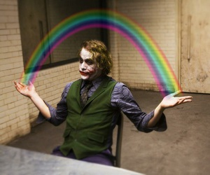 joker, rainbow, and batman image