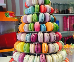 colours, italy, and macarons image