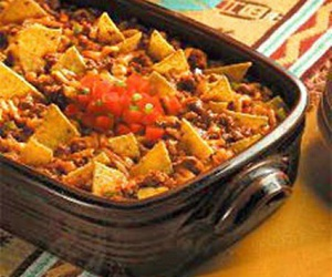 healthy, taco casserole, and mexican image