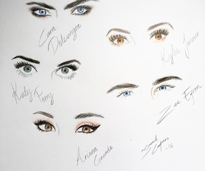 celebrities, drawing, and eyes image