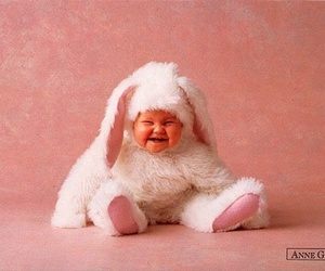 baby, easter, and laugh image