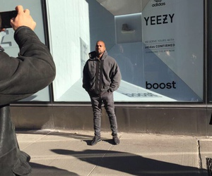 kanye west, yeezy, and adidas image