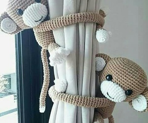 monkey and curtains image