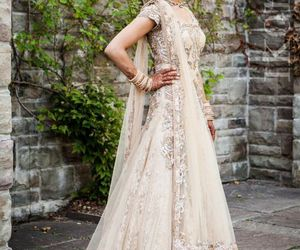 saree, bride, and india image
