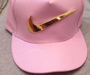 pink, nike, and gold image
