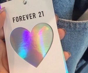 forever 21, holographic, and tumblr image