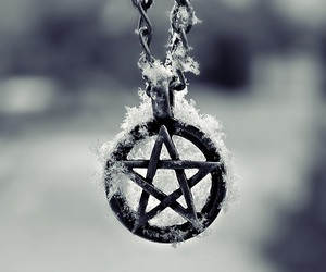 pentagram, snow, and winter image