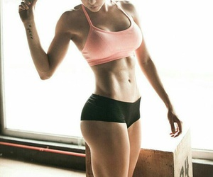 girl, fitness, and abs image