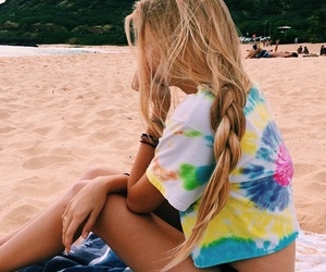 beach, colorful, and blondie image