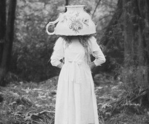 black and white, tea, and alice image