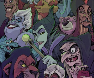 villain, disney, and ursula image