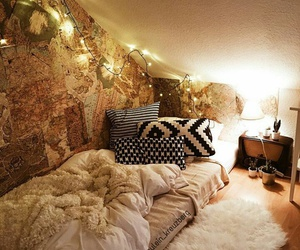 cosy, fairy lights, and goals image
