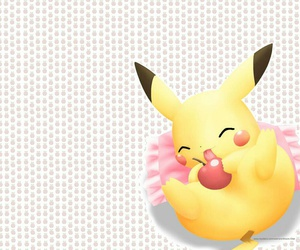 background, cute, and pikachu image