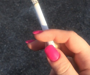 cigarette, barbie, and nails image