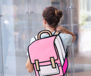 bag, pink, and school image