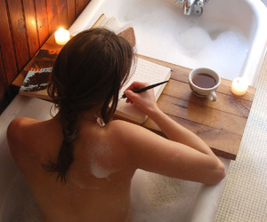 bath, tea, and writing image