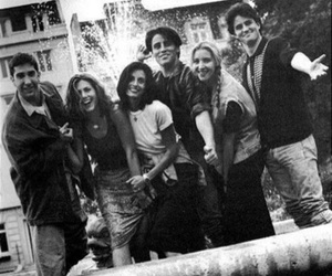friends, black and white, and f.r.i.e.n.d.s image