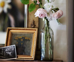 antique, flowers, and pink image