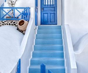 blue, Greece, and travel image