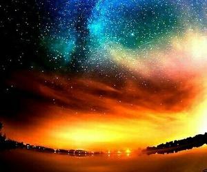 sky, stars, and nature image