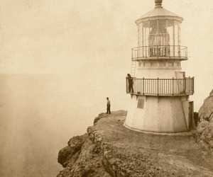lighthouse, photography, and vintage image