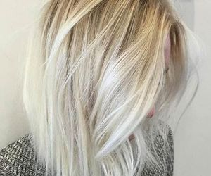 blonde, hair, and white image