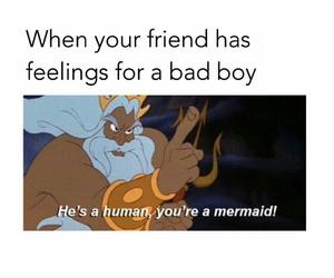 feelings, mermaid, and badboy image