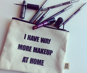 makeup, beauty, and bag image