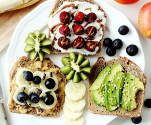 fruit, food, and toast image