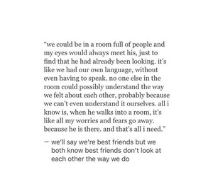just friends, Laura, and love quotes image