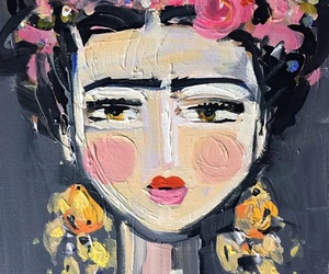 art, painting, and Frida image