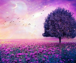 tree, purple, and Dream image