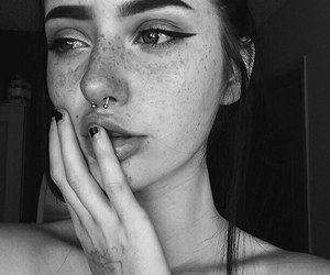 girl, piercing, and tumblr image