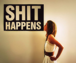 girl, shit, and happens image