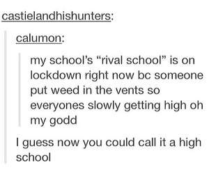 funny, tumblr, and high school image