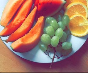 cantaloupe, grapes, and melon image
