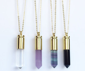 necklace, crystal, and accessories image