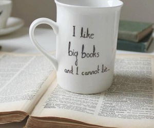 book, cup, and quote image
