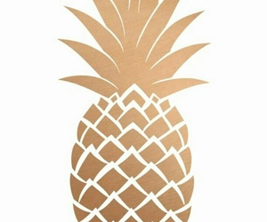 pineapple, wallpaper, and gold image