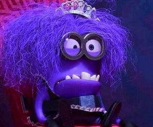 minions, crazy, and purple image