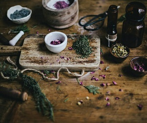 witch, herbs, and magic image