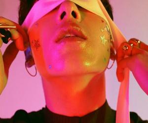 boy, glow, and neon image