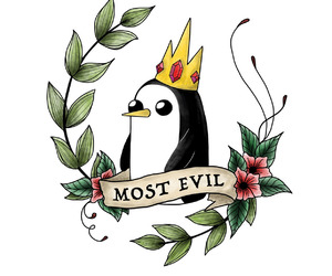 evil, penguin, and tumblr image