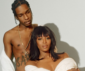 model, Naomi Campbell, and asap rocky image