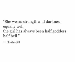 quotes, goddess, and Darkness image